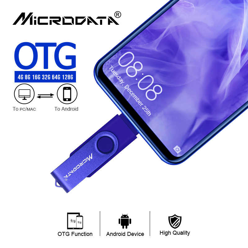 Rotatable חכם OTG usb דיסק און קי 64G 32G 16G 8G 4G עט כונן אגודל כונני זיכרון מקל אנדרואיד otg usb מפתח משלוח חינם