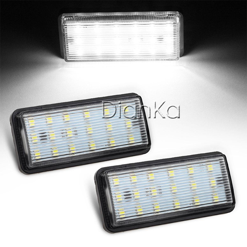 Car LED License Number Plate Lights 12V White SMD For Toyota Land Cruiser Prado Reiz 4D Mark X For Lexus LX470 LX570 Accessories for lexus toyota corolla atis 2001 2007 led car license plate light number frame lamp high quality led lights