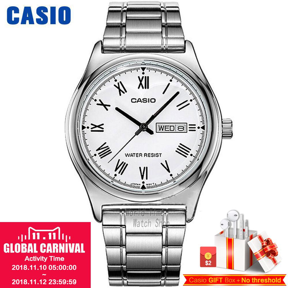 Casio watch Simple fashion watch waterproof leisure business male watch MTP-V006D-7B MTP-V006GL-9B MTP-V006D-1B MTP-V006L-1B цена