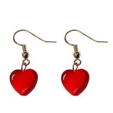 2019 New Popular Drop Earrings Fashion Women Irregular Love Heart Dangle Hook Geometric dropshipping