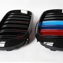 Двухслойная автомобиль передний 3D бампер сетки вентиляционное отверстие грязи гриль крышка решетки радиатора для BMW X5 F15 X6 F16