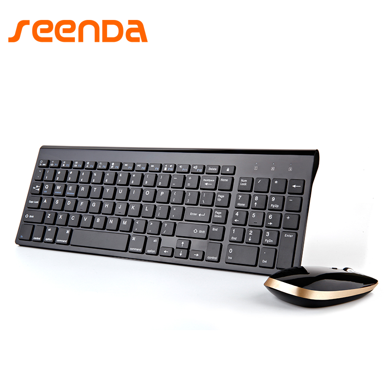 SEENDA 2.4G Wireless Keyboard Mouse Set Office Large Numeric Keypad Waterproof Multimedia Function Keypad  Energy Saving Comfort apple mb110ru b keyboard with numeric keypad проводная white
