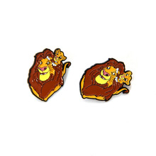 Lion king animal clothing Pins kids men women funny cartoon backpack clothes diy decoration Enamel Brooches badge collar gift