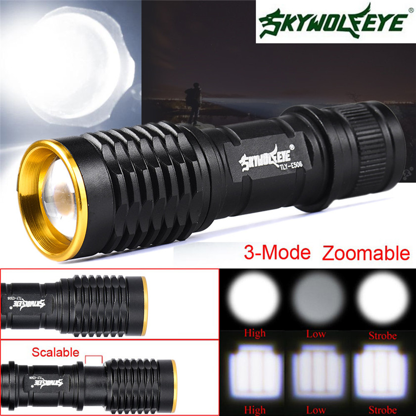 Ambitious 2017 Super Bright 5000lm Cree Q5 Aa/14500 Zoomable Led Flashlight Torch Lamp 3 Modes 170308 Led Flashlights