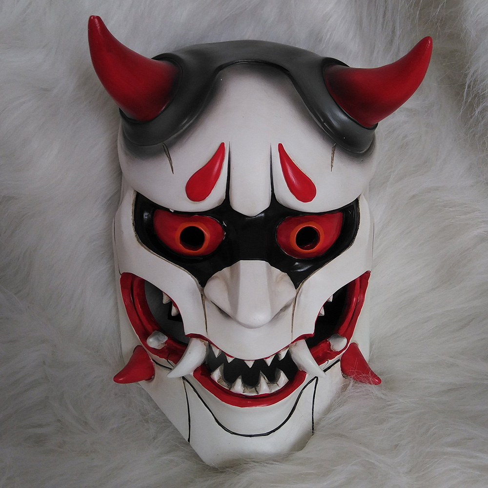 2017high Quality Genji Skin Oni Mask Halloween Fancy Ball Mask Prop Collection Cosplay