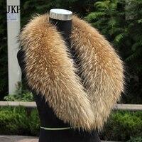 Kostenloser Versand Echt waschbären pelz kragen natürliche Echte Große Waschbären Pelz Kragen schal warp schal winter hals wärmer