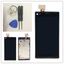 firee shipping LCD Display + Touch Screen Digitizer + Frame For Sony Xperia L S36H C2105 C2104