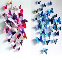 Переводные картинки бабочки искусство декор пвх стены симпатичные дома наклейки украшения