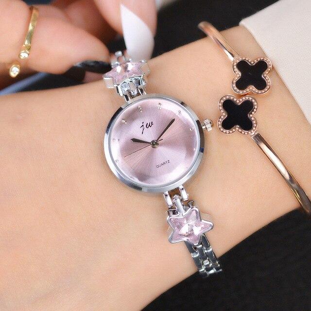 2018 JW Brand Elegant Ladies Bracelet Watch Women New Arrival Gold Steel Strap S