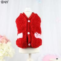 QY NEW Winter Warm Clothing For Dogs Puppy Dog Cat Pet Clothes Apparel Soft Red Blue