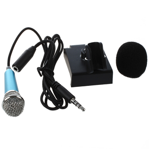 Image 2 - Mini hand mikrofon für sprach aufnahme, Internet chat auf smartphone, notebook oder tablet, mit 3,5mm mic kabel und mic stand
