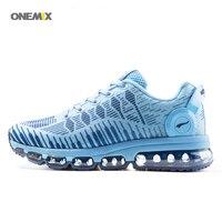 Onemix 2017 Для женщин спортивные кроссовки сетки Гибкая кросс Trainer Lite кроссовки мягкой подошвой на шнуровке дышать воздухом спортивные 1216B