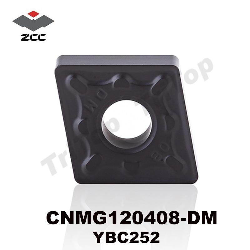 ZCC CUTTING TOOL CNMG120408 -DM YBC252، ZCC.CT cnmg نوع کاربید ورق تراشکاری شده تراش تراش درج دستگاه cnc cnmg432
