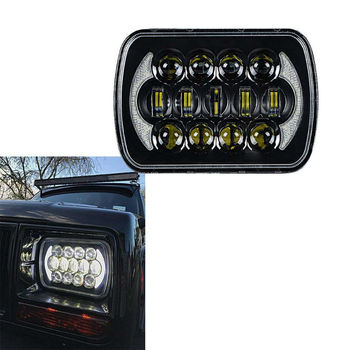 2PCS 105W Rectangle 7x6 LED Headlights Hi/Low Sealed Beam for Chevy S10, H4 Plug H6054 Headlight H5054 6052 for Jeep Wrangler YJ