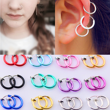 2017 Fashion Hot sale 16 Colors Stealth Clip On Earrings For Women Men NO Hole Clip earrings ear cuff nose navel clips folder