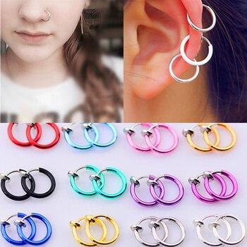 2017 fashion hot sale 16 Colors stealth ear clip earring hole clip false earrings ear clips folder nose ring navel ring Чокер
