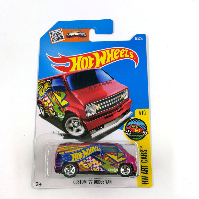 2016 Hot Wheels 1:64 Car CUSTOM 77 DODGE VAN Collector Edition Metal Diecast Cars Collection Kids Toys Vehicle For Gift