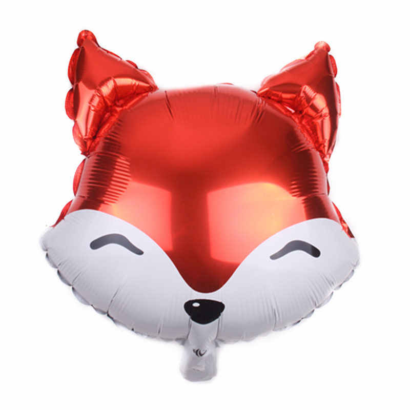 XXPWJ  New 18-inch cartoon fox head aluminum balloon Children's holiday party decoration toys High quality     I-085