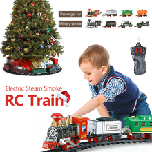 Electric Remote Control Simulation Rail Train Chargeable Steam RC