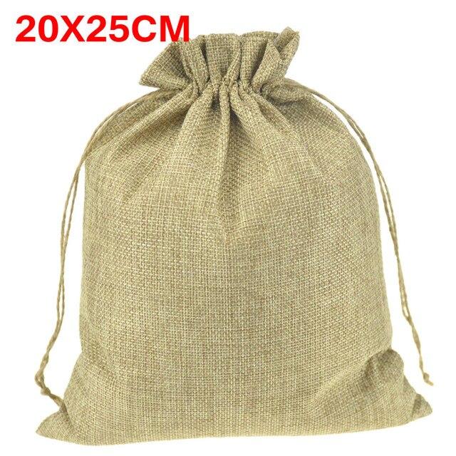 Besar Alami Yute Karung Serut Tas Sepatu Syal Pakaian Kaus Kaki Dress  Penyimpanan Tas Kemasan untuk f93bb56801