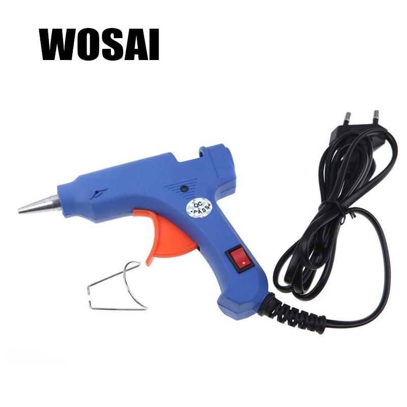 WOSAI EU 20WProfessional High Temp Heater Hot Glue Gun Graft Repair Heat Gun Pneumatic DIY Tools