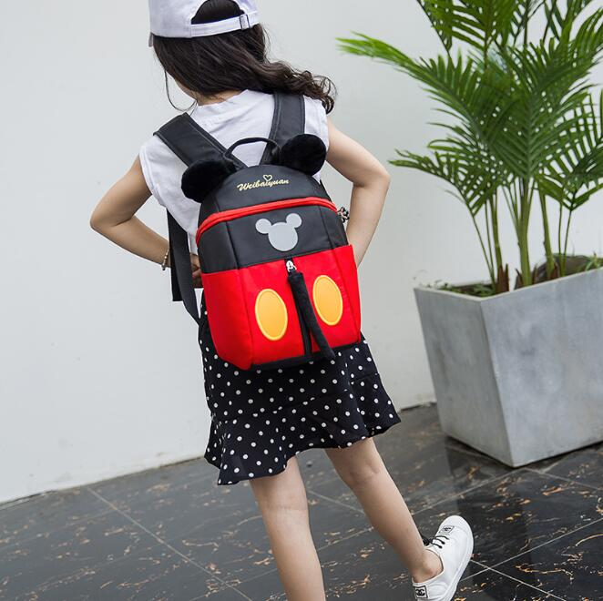 Mickey Dots Orthopedic Backpack School Bags for Boys Girls Cartoon Schoolbag Ultralight Kids Satchel PreschoolMickey Dots Orthopedic Backpack School Bags for Boys Girls Cartoon Schoolbag Ultralight Kids Satchel Preschool
