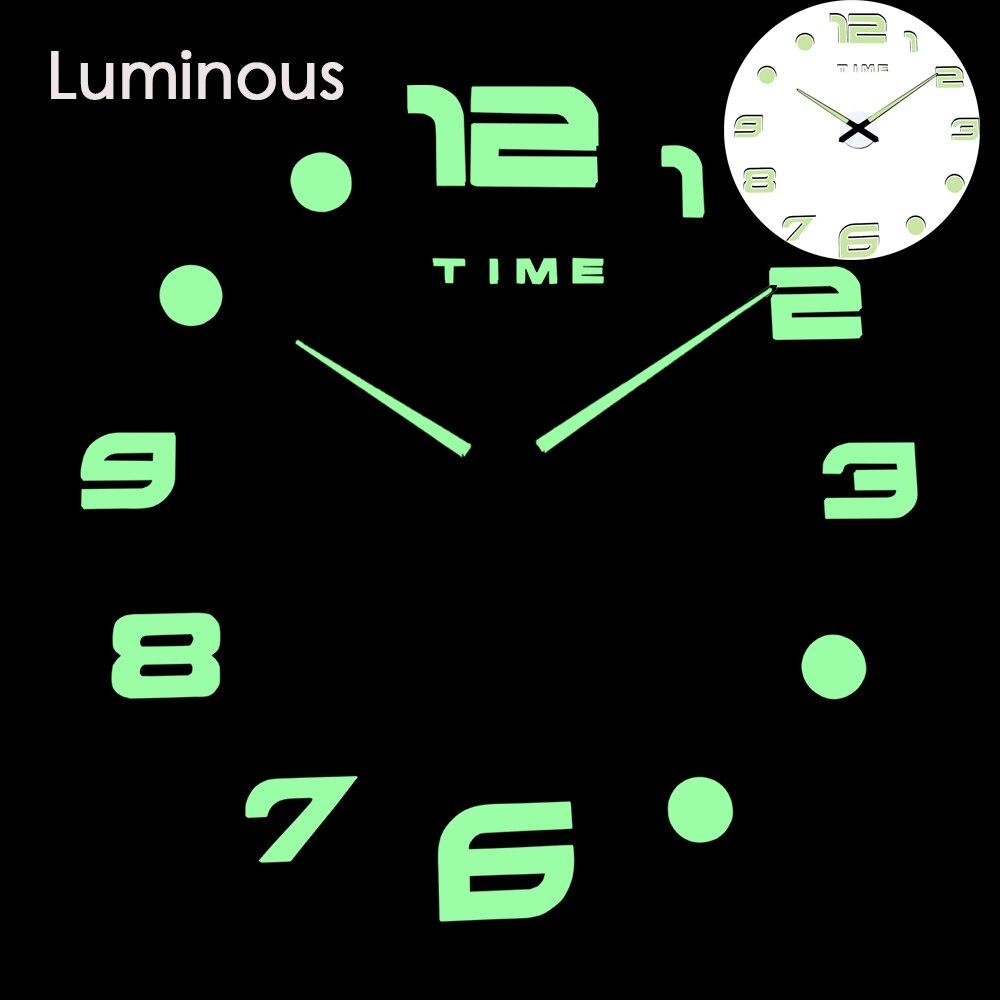 27 различных дизайнов светящиеся настенные часы современный дизайн настенные цифровые большие Big3D DIY модные Saat Reloj Horloge klok - Цвет: wall clock 25