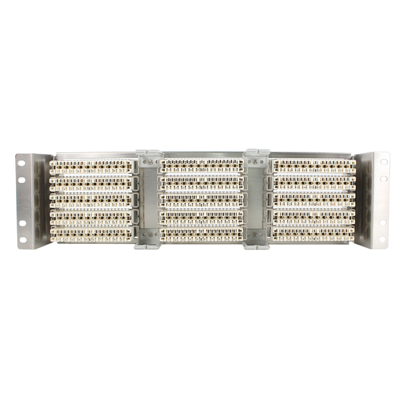 Rack Stainless steel 150 pairs telephone patch panel Krone voice module VDF Distribution Frame for 19