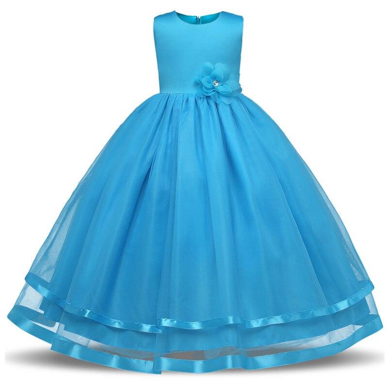 2018 Summer Girl\'s Tulle Long Flower Girl Dress Kids Summer Prom ...