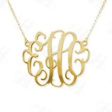 Custom Monogram Naszyjnik Fashion Bold Statement Initial Letter Naszyjnik, złoty naszyjnik dla kobiet, Colares Femininos