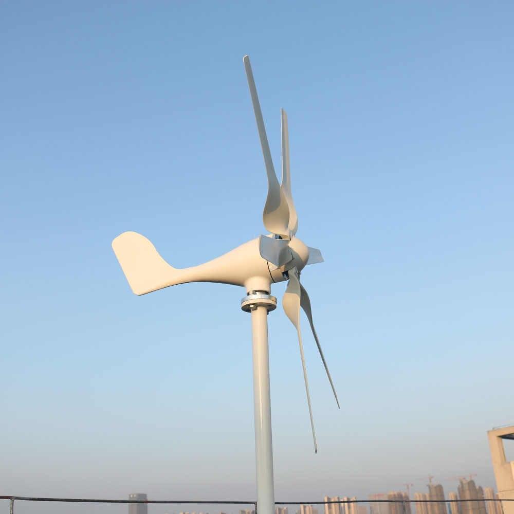 FLTXNY 3 phase AC 12v 24v 800w Horizontal wind turbine generator with 12V  24V Auto wind controller for home use or streetlight