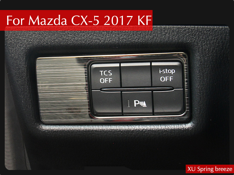 For Mazda CX-5 CX5 KF 2017 2018 Car Head Lamp Light Switch Headlight Adjustment Knob Panel Control Protective Trim Car Styling for mazda cx 5 cx5 2017 2018 kf 2nd gen car co pilot copilot stroage glove box handle frame cover stickers car styling