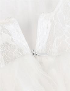 Image 4 - TiaoBug beyaz/fildişi kız dantel uzun elbise tatlı çiçek yaş 2 12 bebek çocuklar için prenses elbise düğün balo parti
