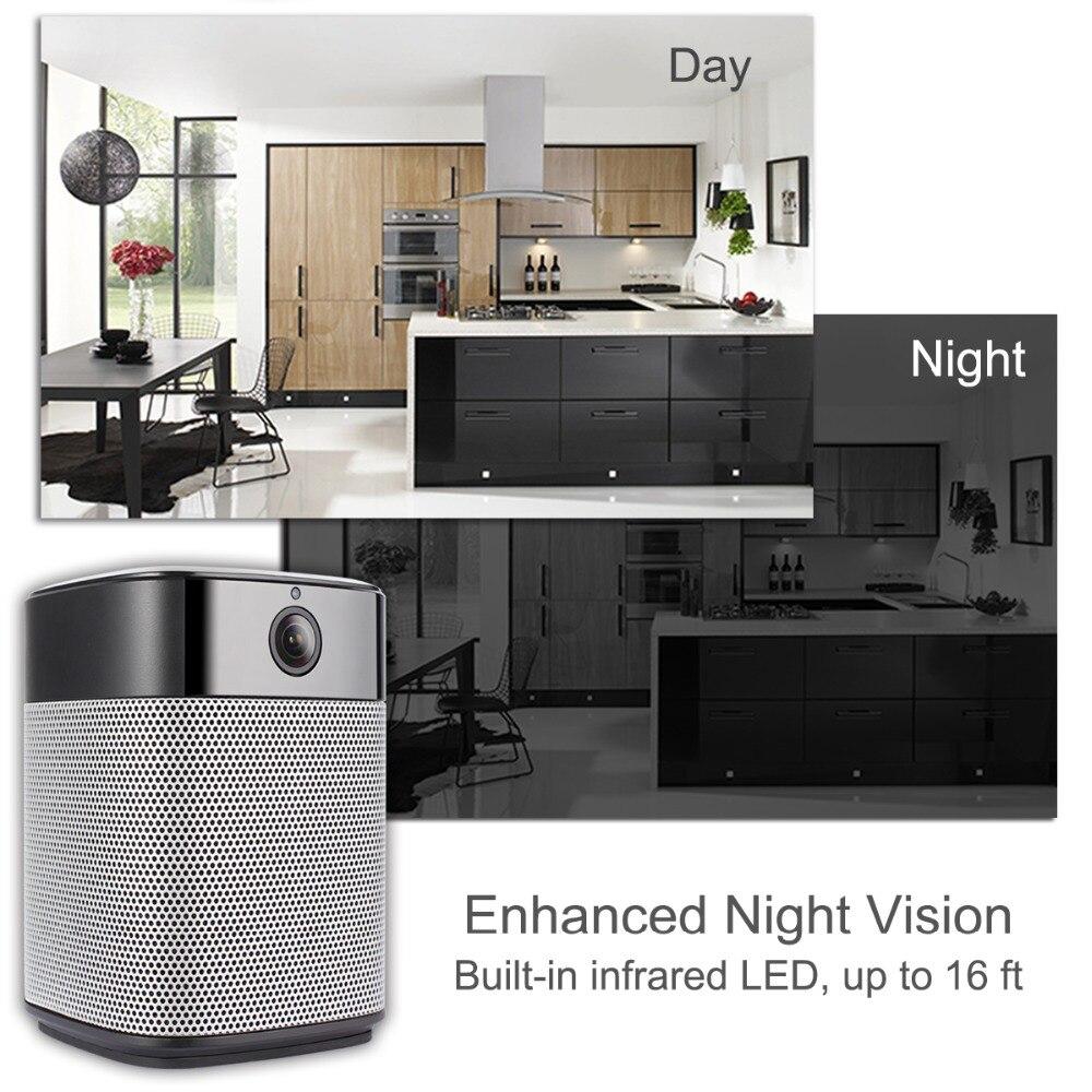 Keeper HD 1080 P mini Wifi IP Camera en Bluetooth Speaker Security Camera met Night Vision Two Way Audio Motion detectie - 4