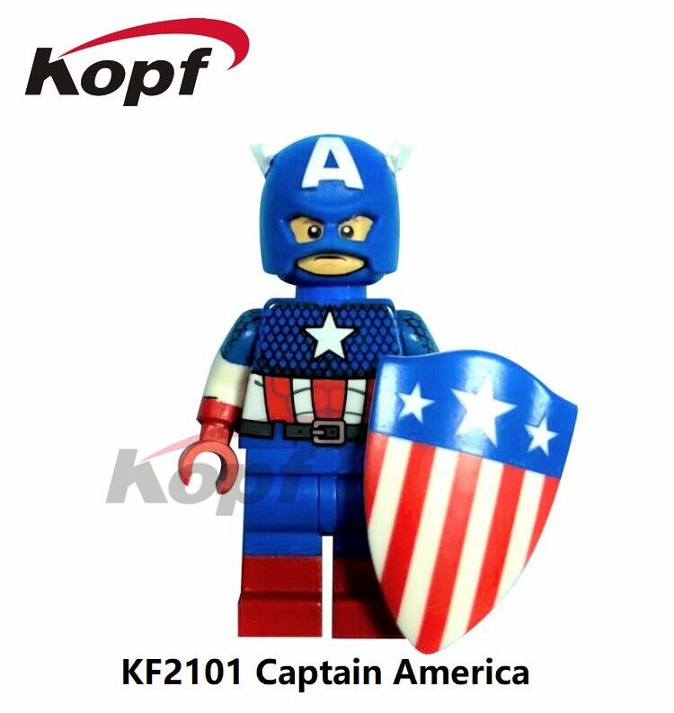 Single Sale Super Heroes Captain America Spiderman Red Hulk Vision Bricks Assemble Building Blocks Children Gift Toys KF2101 single sale super heroes red yellow deadpool duck the bride terminator indiana jones building blocks children gift toys kf928