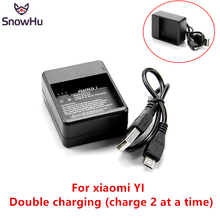 Купить с кэшбэком SnowHu Dual Port Battery Charger for Xiaomi Yi Sports Cam International Edition Accessories for xiao Yi Action Camera GP274