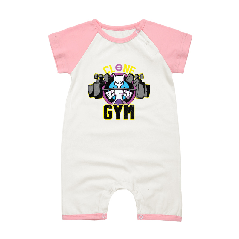 Anime Cartoon Mewtwo Baby Rompers Summer Baby Girl Clothes Baby Boys Clothing Short Sleeve Newborn Roupas Bebe Infant Jumpsuit
