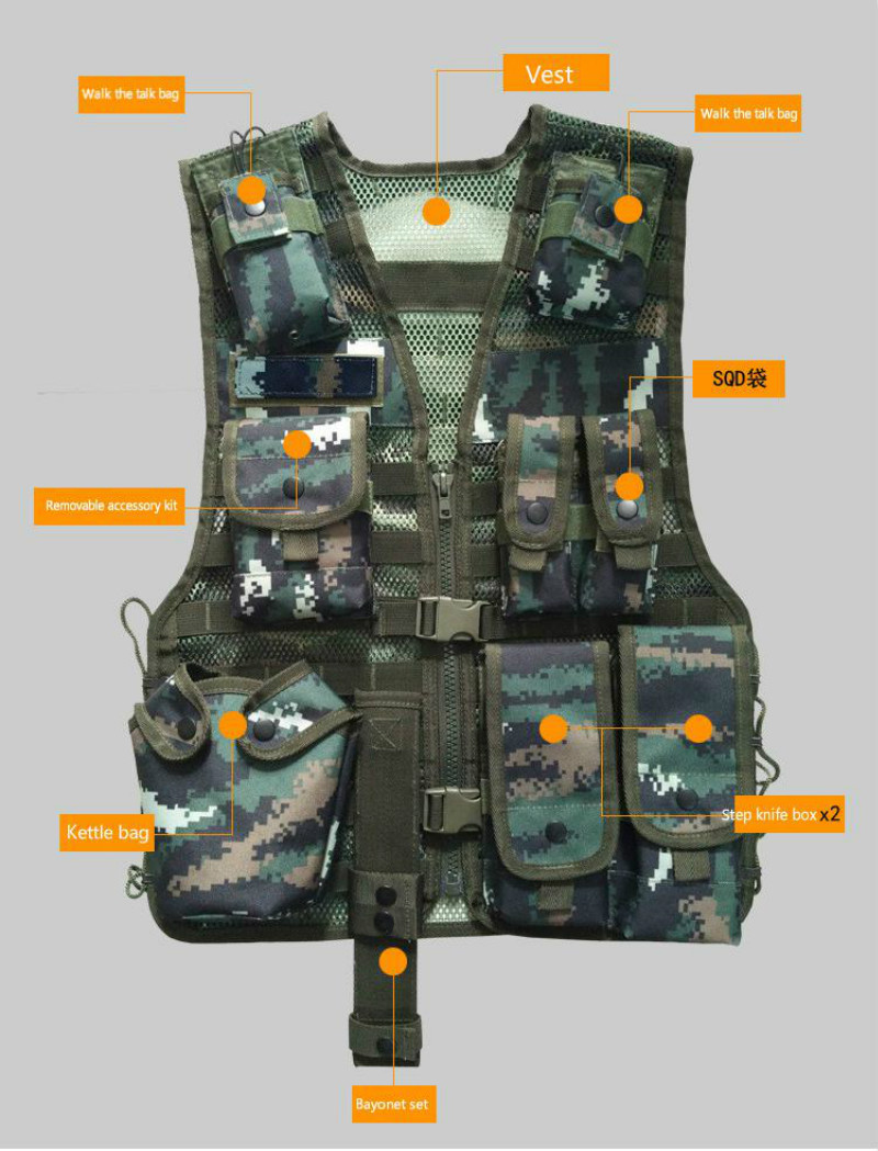 Unloading Men Multi-pocket Tactical Camouflage Vest Camo Tactical Vest Army Combat Uniform Military Hunting Waterproof Vest camo womens trekking leisure trousers outdoor military army combat tactical multi pocket hiking pants women pantalones mujer