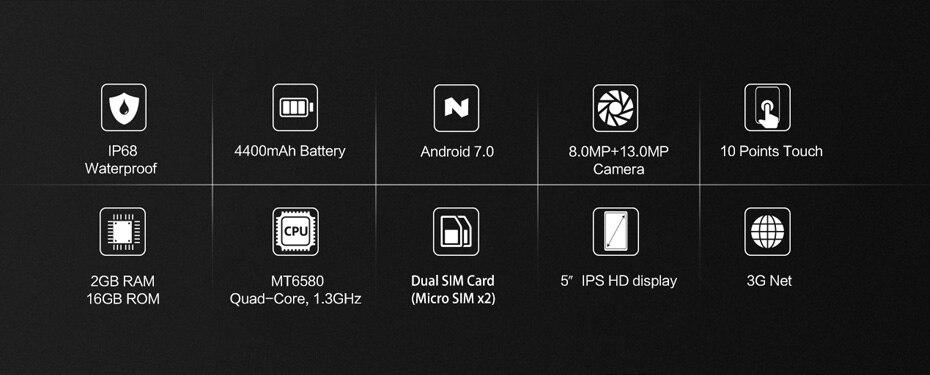 """Quad 5.0"""" Cell MT6580 13"""