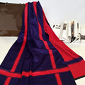 Estilo de la moda doble manta A Cuadros bufanda de lujo mujeres de la marca españa desigher Poncho bufanda de invierno cálido chal y bufandas de cachemira