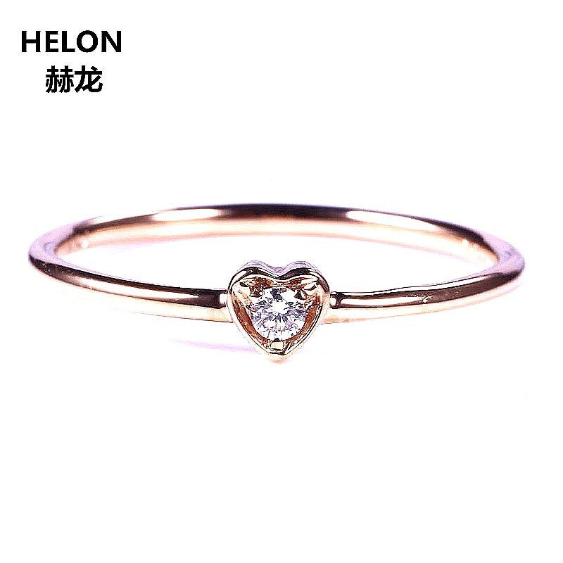 100% 925 Sterling Silver Rings For Women Heart Trendy Best Gift Wedding Engagement Ring Luxury CZ Cubic Zirconia Rose Gold Color 3 4mm round cut brilliant cz 925 sterling silver rose gold plated women fashion engagement wedding cubic zirconia ring