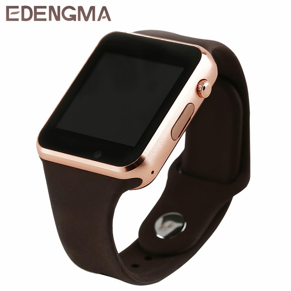 EDENGMA smart watch a1/de los hombres reloj de pulsera que GT08 DZ09 para SIM/TF tarjeta Bluetooth reloj smartwatch a1/amazfit bip reloj inteligente