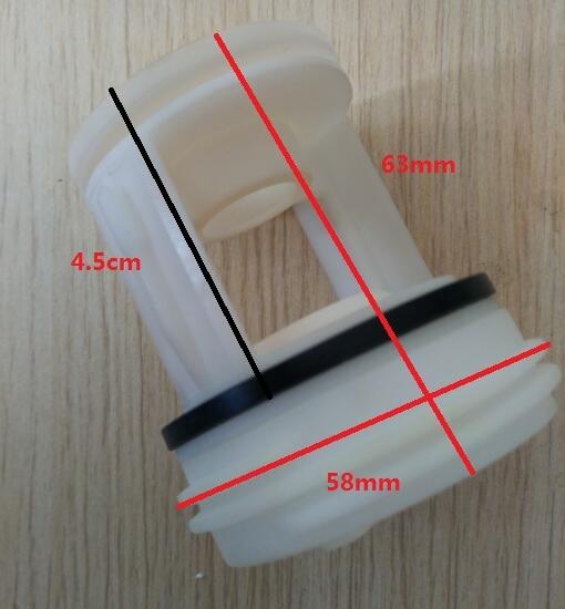 Durable White Thick Universal Type Washing Machine Parts Drain Pump Filter Cap 58mm
