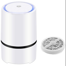 Desktop Air Purifier With 1Pcs Hepa Filters Replaced, Portable Cleaner Night Light For Home Bedroom Office Car Allerg