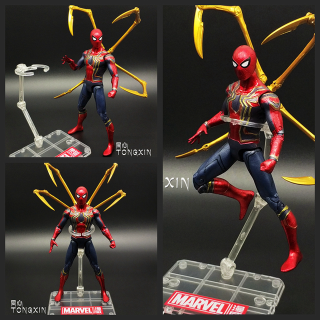 Avengers 3 Infinity War Iron Man Spiderman Homecoming Captain America  PVC Action Figure Toy