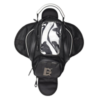 Premium Black Fuel Tank Bag Motorcycle Magnetic Outdoor Wallet New Motorcycle Bike Sports Back Seat Bag