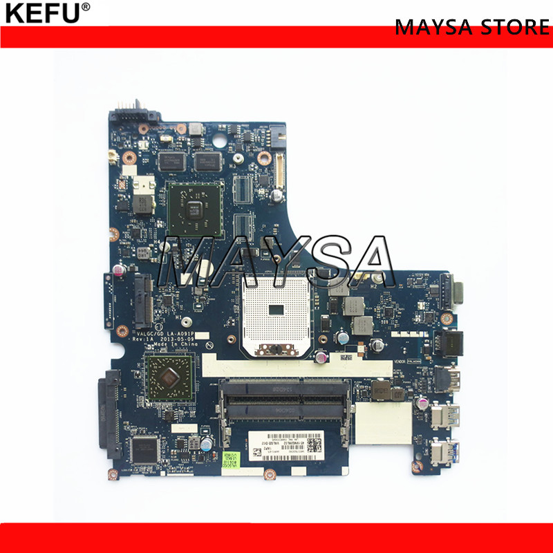 Laptop Motherboard For Lenovo G505S Notebook PC VALGC/GD LA-A091P R5 M230 2GB GPU DDR3 100% Tested Fast Ship nokotion laptop motherboard for lenovo g505s 15 valgc gd la a091p r5 m230 2gb gpu ddr3 main board full tested