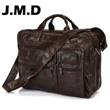 JMD 2016 Hot sale Business men leather handbag High Quality Brand 100% Genuine Leather Bag Messenger bag Men Bag Laptop JD013