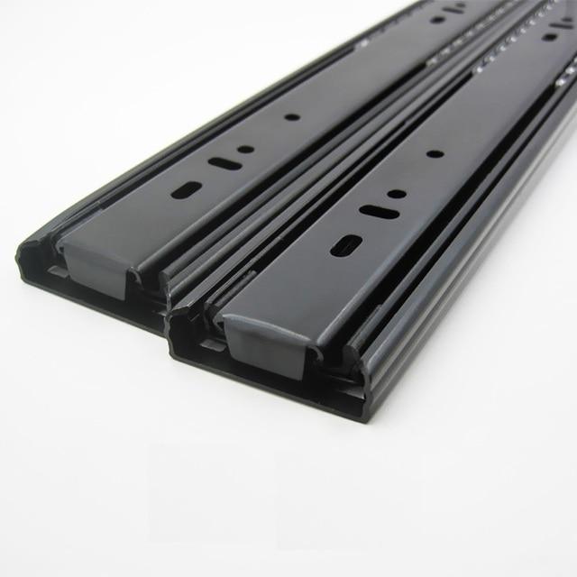 """1Pairs/Lot  14"""" / 35CM  H4512  Heavy Duty Telescopic ball bearing drawer slide Slides Runner 1.2*1.2*1.2mm Thick Full Extension"""