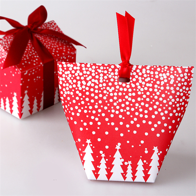 Christmas Gift Packing: Small Candy Boxes Christmas Tree Packaging Gift Box Of